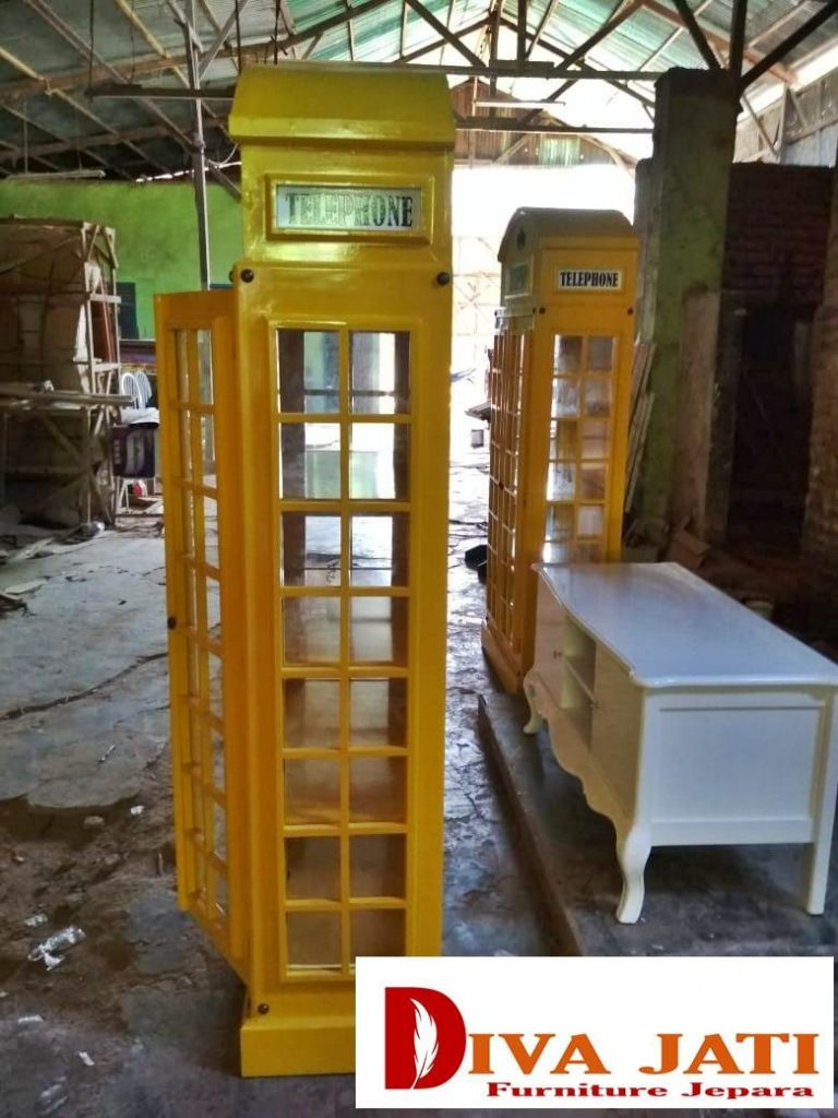 Lemari Pakaian Surabaya Kayu Jati Minimalis 4 Pintu Modern