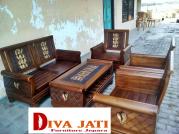 Jual Kursi Tamu Jakarta Kayu Jati Minimalis Ukiran Terbaru