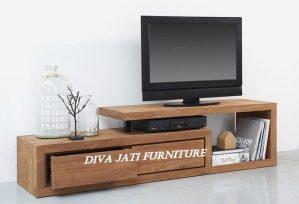 Model Meja Rak Tv Minimalis Kayu Jati Unik
