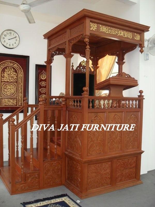 Mimbar Masjid  Medan Kayu Jati  Terbaru
