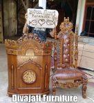 Jual Mimbar Masjid Jakarta Kayu Jati Ukiran Bunga Terbaru