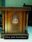 Mimbar Masjid Bogor Minimalis Ukiran Kayu Jati