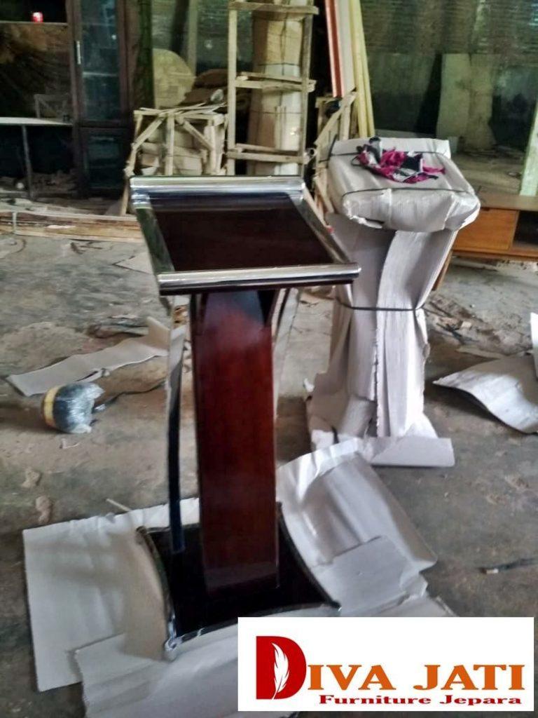 Jual Mimbar Podium Cirebon  Model Stainless Modern