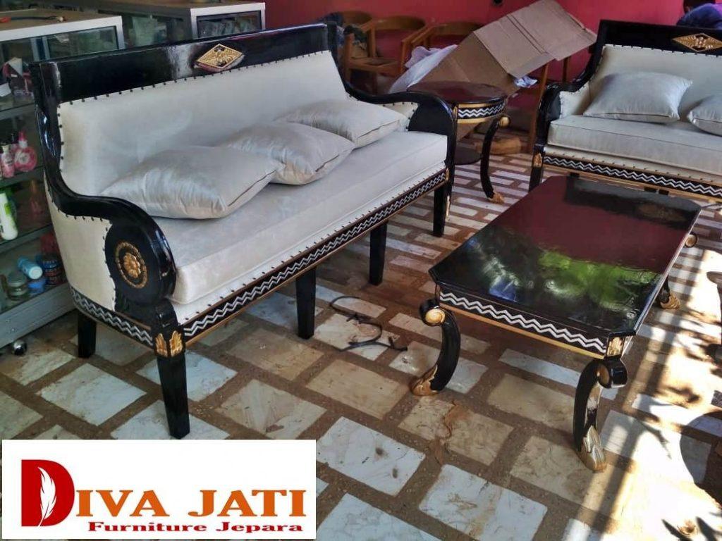 Kursi Tamu Tangerang Mewah Klasik Kayu Jati Solid