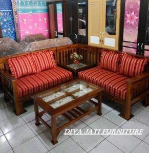 Kursi Tamu Sudut Kota Semarang Kayu Jati Sofa Minimalis