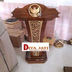 Jual Mimbar Masjid Palembang  Podium Minimalis