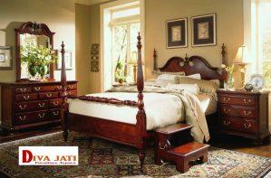 Kamar Tidur Semarang Minimalis Kayu Jati Modern