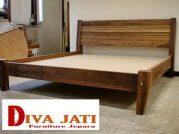 Jual Tempat Tidur Tangerang Kayu Jati Desain Minimalis Model Baru