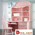 Meja Belajar Anak Perempuan Malang Warna Pink Model Terbaru