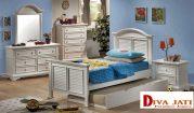 Kamar Set Anak Demak Minimalis Sorong Putih Duco