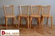 Kursi Cafe Probolinggo Kayu Jati Solid Model Jari Jari