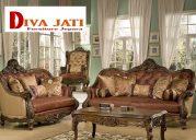 Kursi Tamu Sofa Padang Mewah Kayu Jati Ukiran Modern