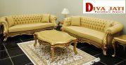Kursi Tamu Depok Mewah Sofa Ukiran Modern Warna Emas