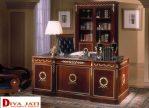 Meja Kantor Mewah Bekasi Kayu Jati Ukiran Klasik Terbaru