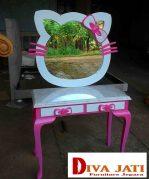 Jual Meja Rias Anak Bogor Model Hello Kitty Unik Modern
