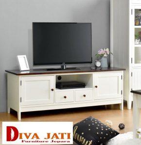 Meja Tv Tangerang Minimalis Warna Putih Natural