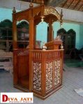 Mimbar Masjid Semarang Model Kubah Ukiran Terbaru