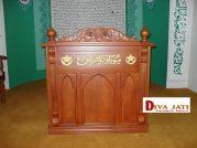 Mimbar Masjid Kediri Model Podium Ukiran Kayu Jati Minimalis