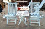 Kursi Teras Tangerang Lipat Warna Putih Duco Modern