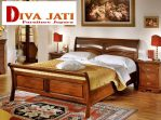 Tempat Tidur Madura Kayu Jati Minimalis Sederhana