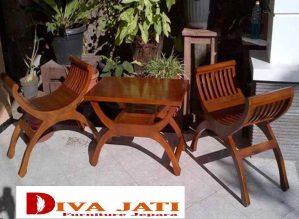 Kursi Teras kayu Jati Model Yuyu