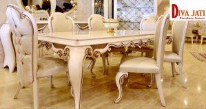 Jual Meja Mewah Semarang Putih Untuk Ruang Makan