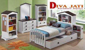 Set Kamar Anak Madiun Minimalis Putih Duco Anak Perempuan