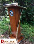 Podium Stainless Minimalis Kayu Jati Untuk Masjid Dan Kantor